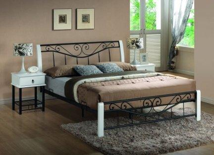 Łóżko PARMA 160x200 Biało-Czarne
