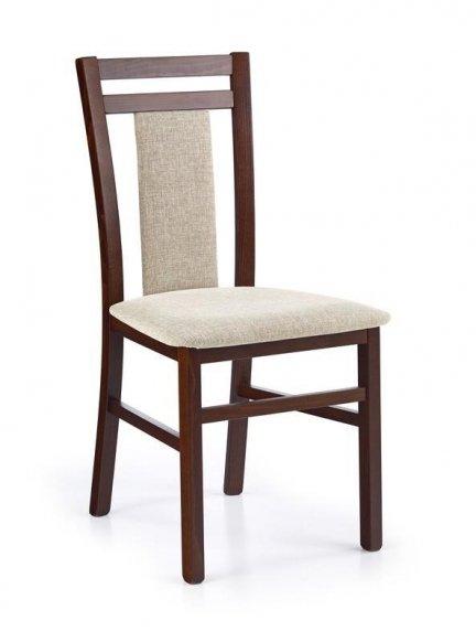 Krzesło HUBERT 8 ciemny orzech/tap. vila 2
