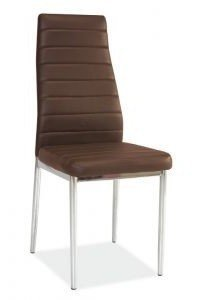 Krzesło metalowe H-261 brązowe