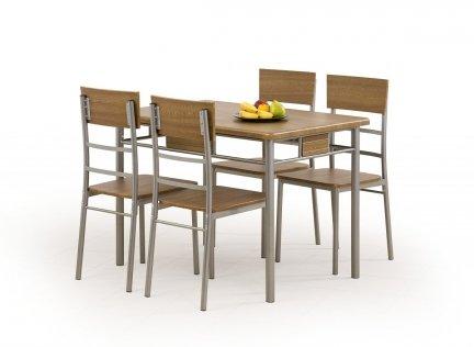 Zestaw NATAN stół + 4 krzesła orzech