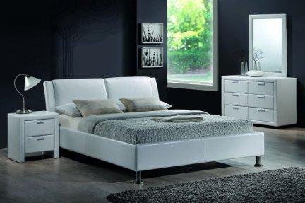 Łóżko tapicerowane MITO 160x200 białe
