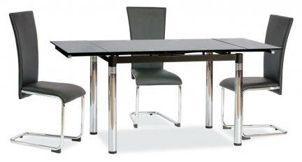 Stół szklany rozkładany GD-018 czarny