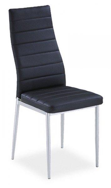 Krzesło H-261 czarne/chrom