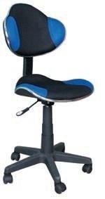 Fotel gabinetowy Q-G2 czarno-niebieski