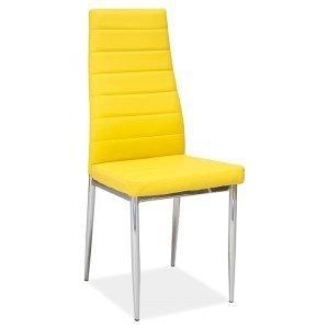Krzesło metalowe H-261 żółte