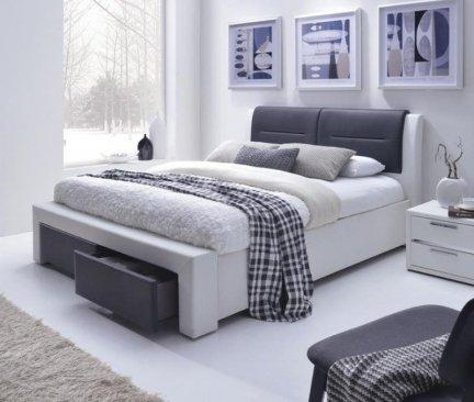 Łóżko tapicerowane z szufladami CASSANDRA S