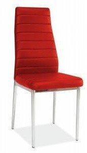 Krzesło metalowe H-261 czerwone