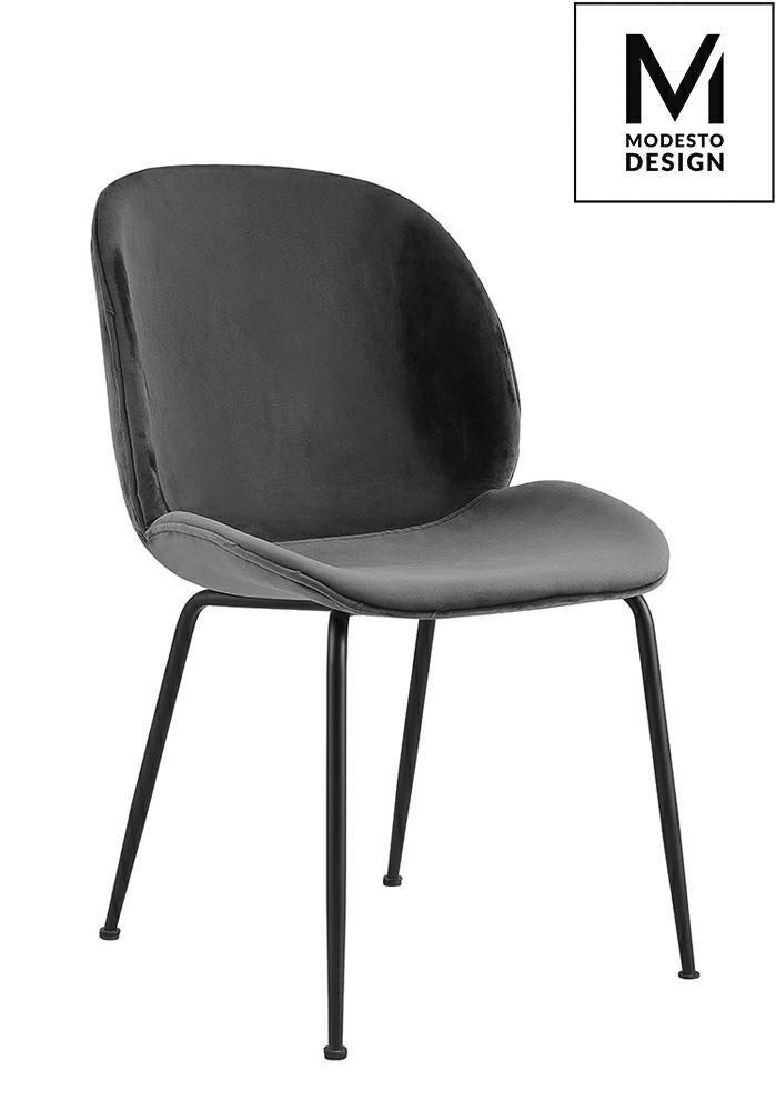 Krzesło SCOOP szare-welur