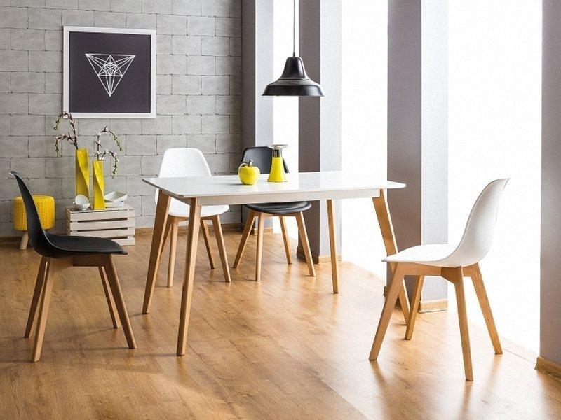 Krzesło MORIS buk/biały aranżacja