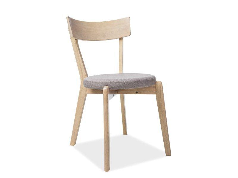 Krzesło NELSON dąb miodowy/szary