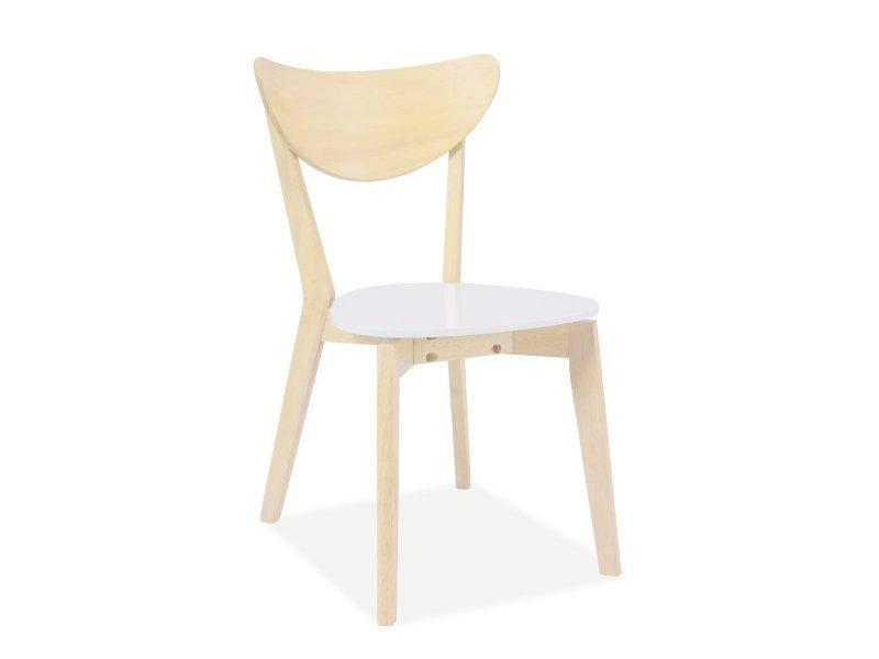 Krzesło CD-19 dąb bielony-białe