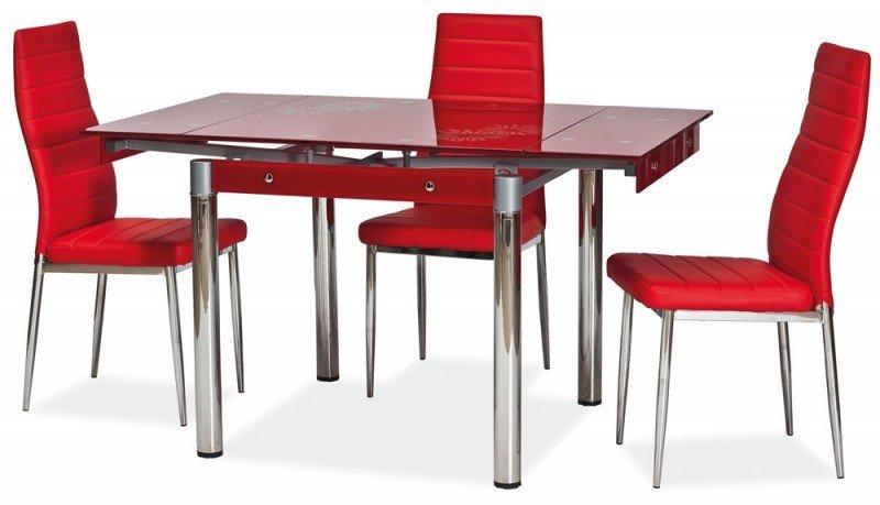 Stół rozkładany GD082 czerwony