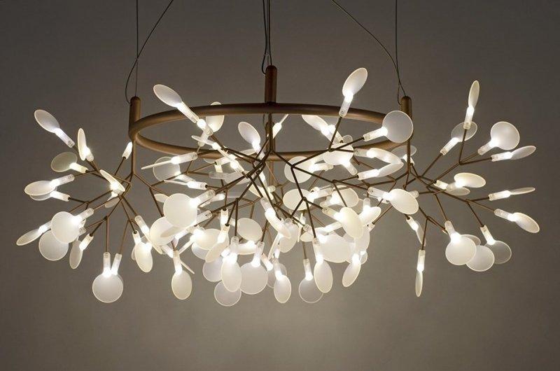 Lampa wisząca FLORA 80 miedziana