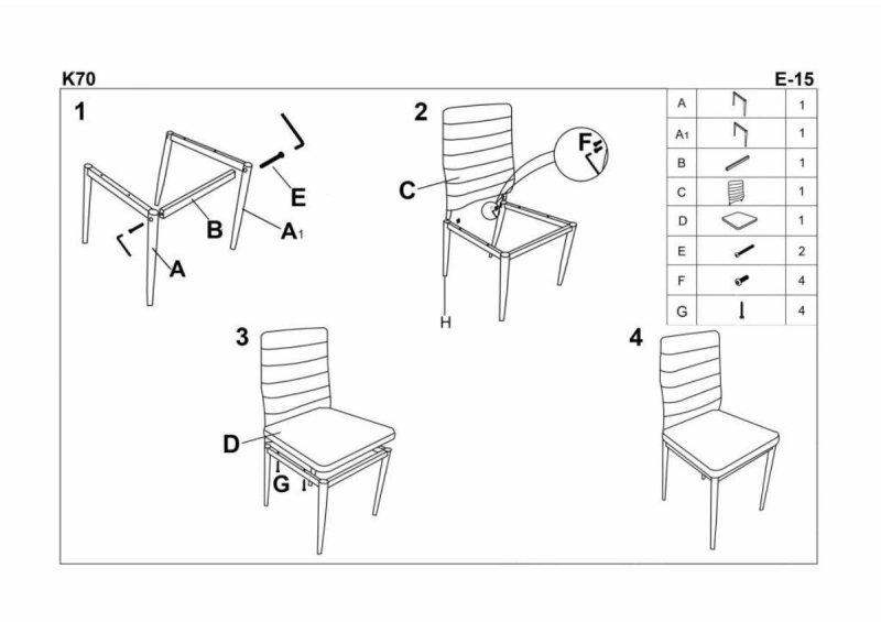 Krzesło K70 czarny