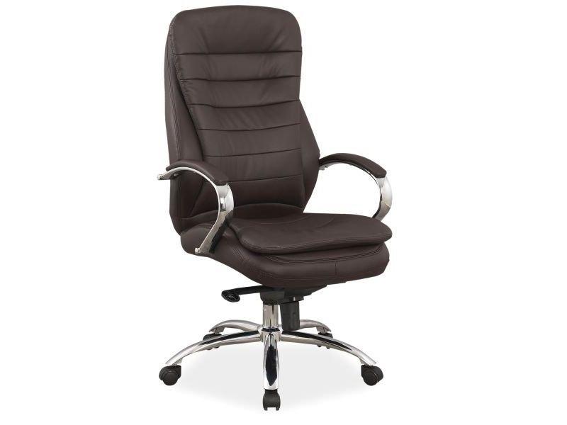Fotel obrotowy Q154 brąz