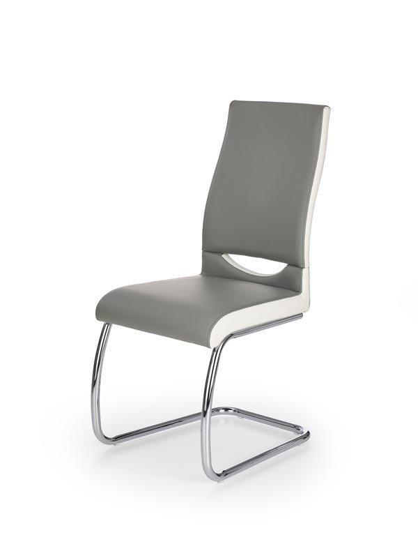 Krzesło K259 popielato-białe