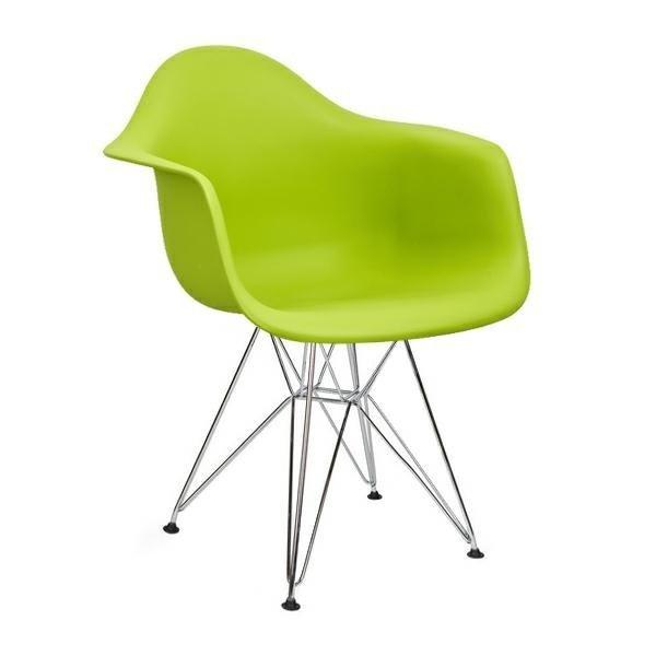 Fotel DAR SILVER zielony/chrom