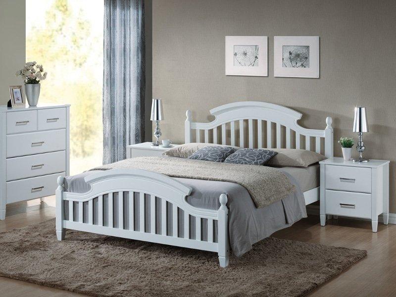 Łóżko LIZBONA 160x200 biały
