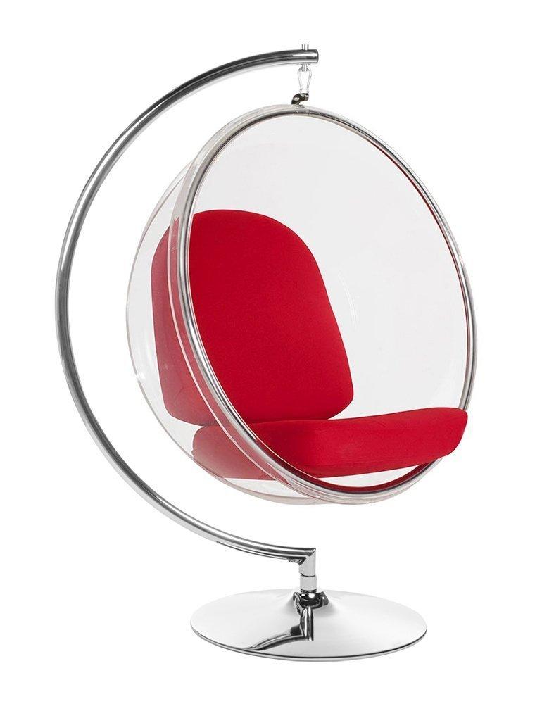 Fotel BUBBLE STAND poduszka czerwona