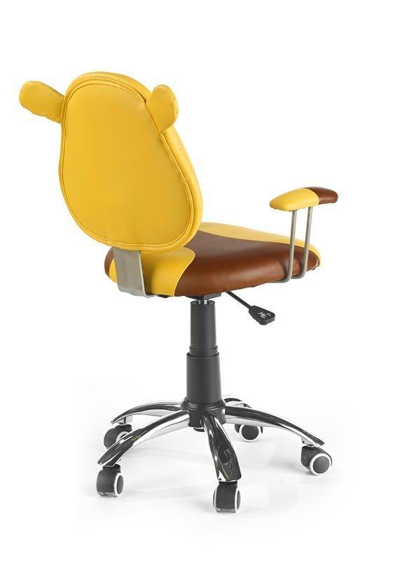 Fotel młodzieżowy KUBUŚ żółto-brązowy