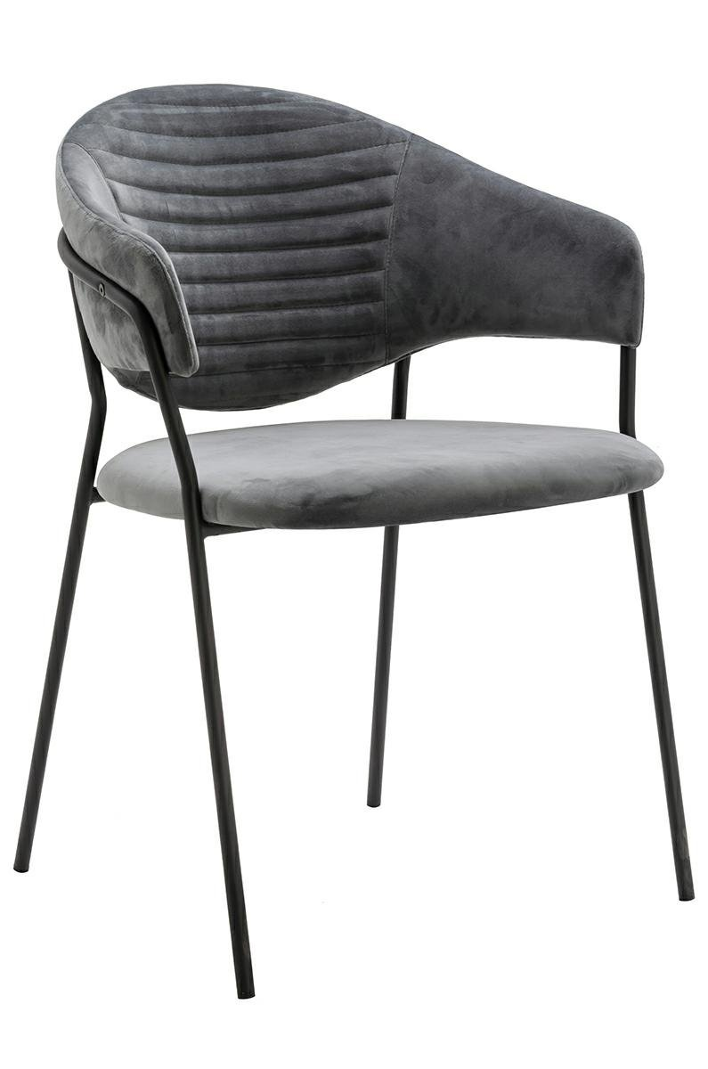 Fotel NAOMI ciemny szary/czarny