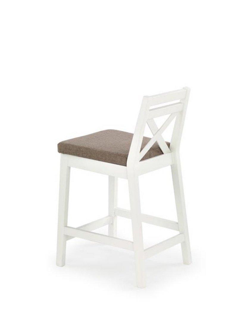 Krzesło barowe BORYS LOW białe/inari 23