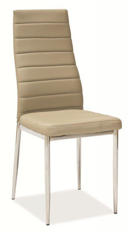 Krzesło H261 ciemno beżowe/chrom