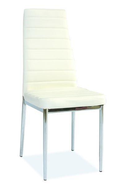 Krzesło H261 białe/chrom