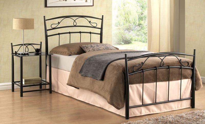 Łóżko SIENA 90x200 czarne