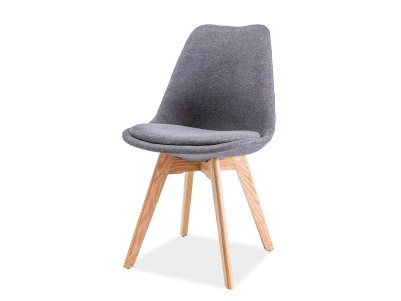 Krzesło DIOR buk/ciemny szary