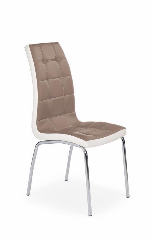 Krzesło K186 cappuccino-białe