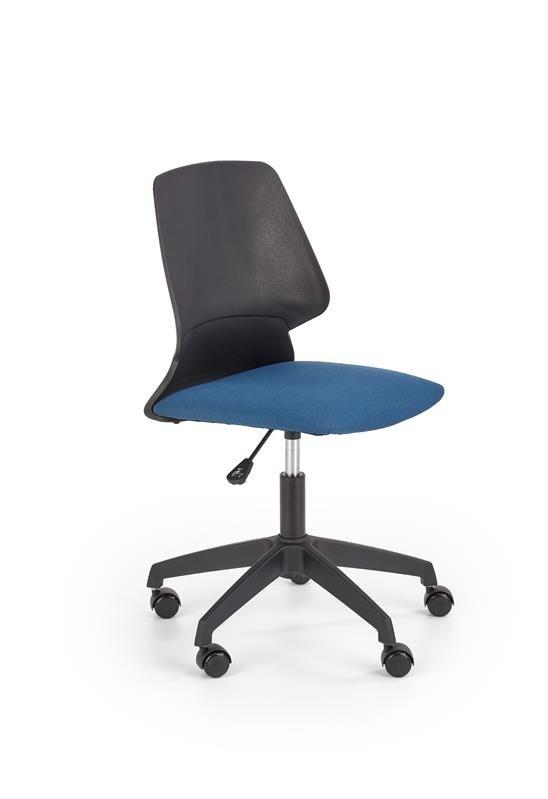 Fotel młodzieżowy GRAVITY czarny/niebieski