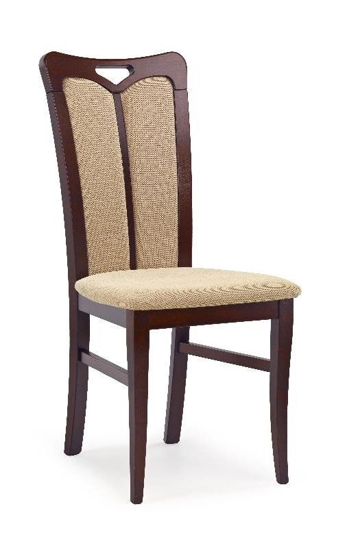 Krzesło HUBERT2 ciemny orzech/torent beige