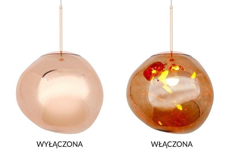 Lampa wisząca FUSION 40 miedziana/akryl