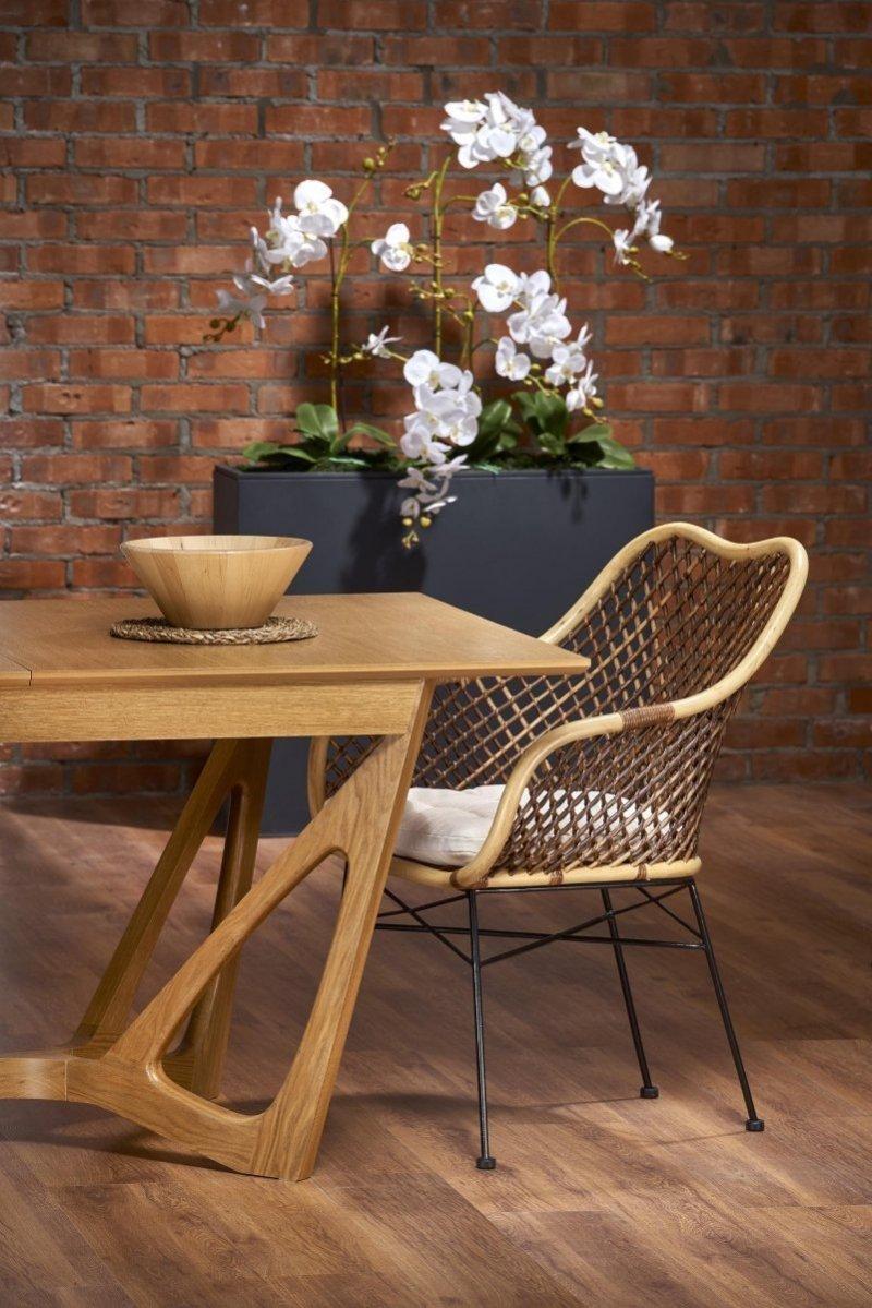 Krzesło K336 naturalny/ciemny brąz