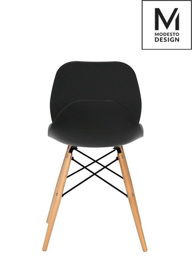 Krzesło LEAF WOOD czarne/buk