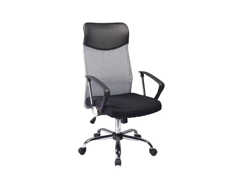 Fotel obrotowy Q-025 szaro-czarny