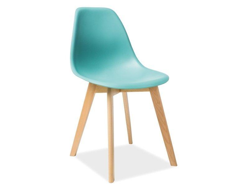 Krzesło MORIS buk/mięta