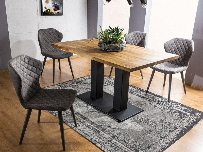 Stół SAURON 180x90 okleina dąb/czarny
