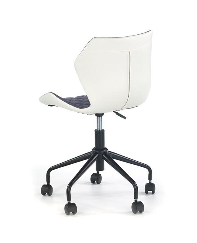 Fotel młodzieżowy MATRIX popielaty/biały