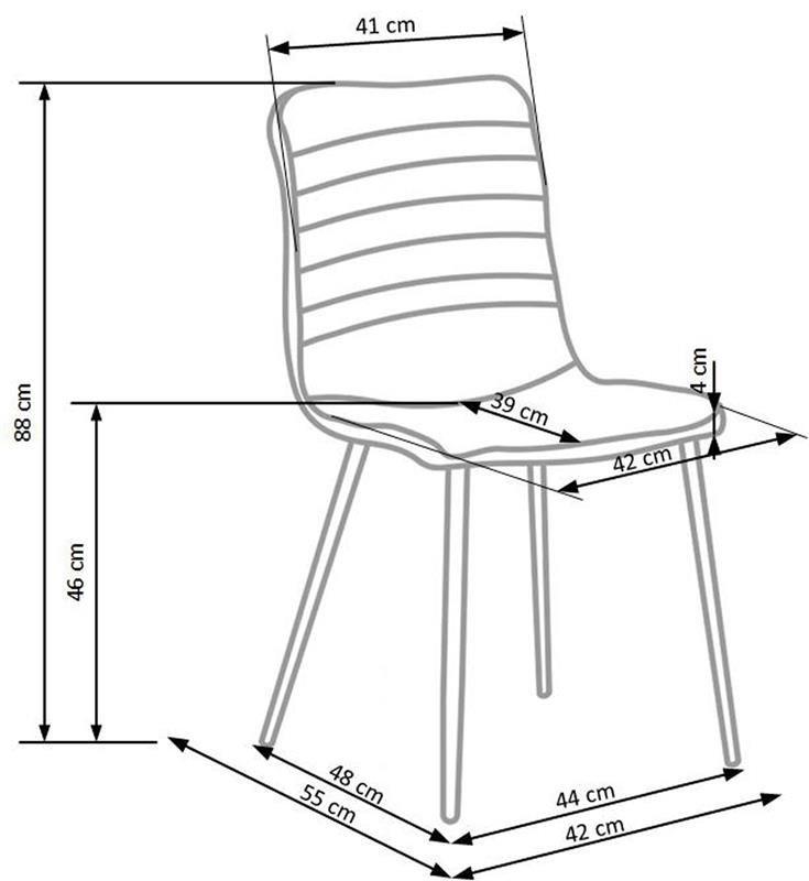 Krzesło K251 wymiary