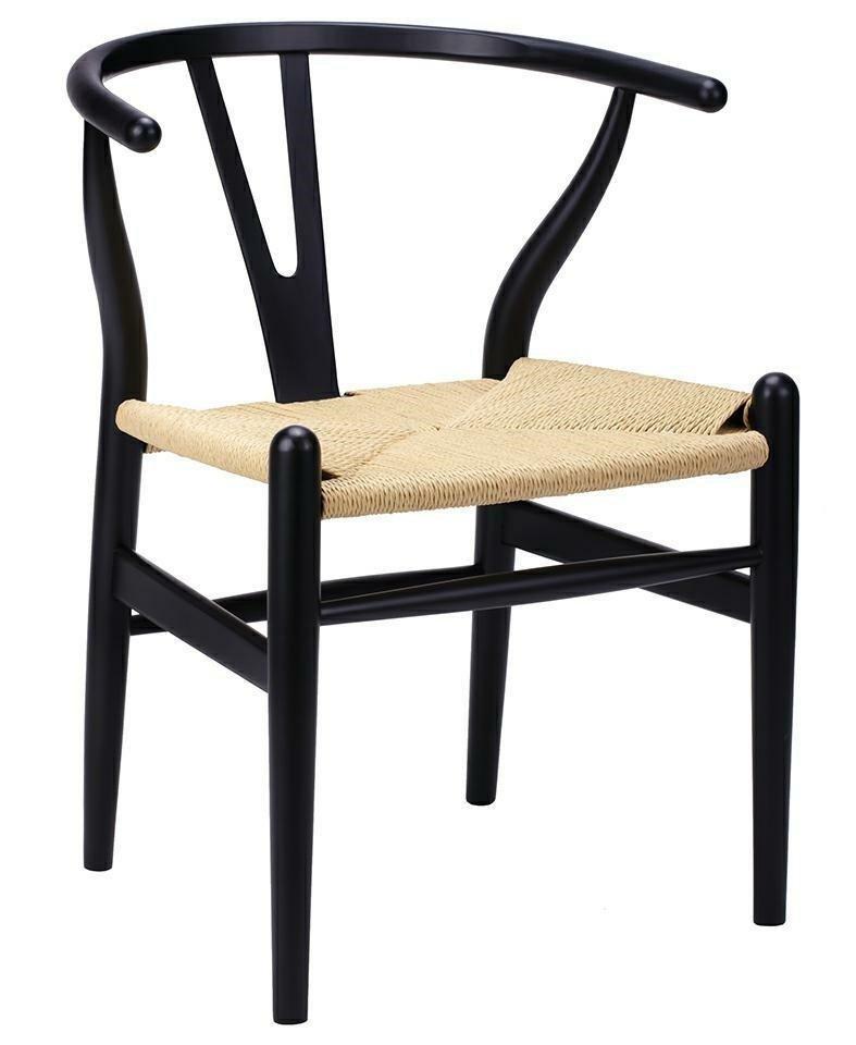 Krzesło WISHBONE czarne/naturalne