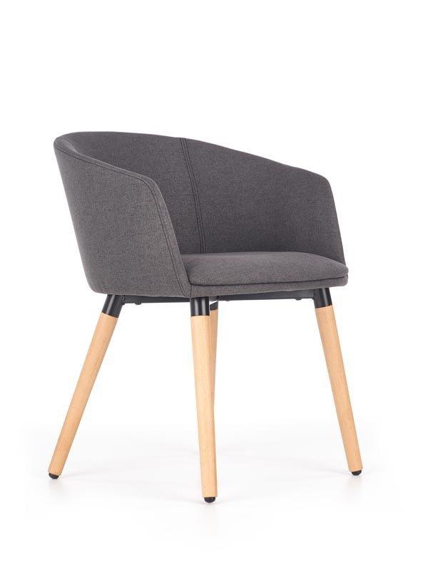 Krzesło K266 ciemno popielate