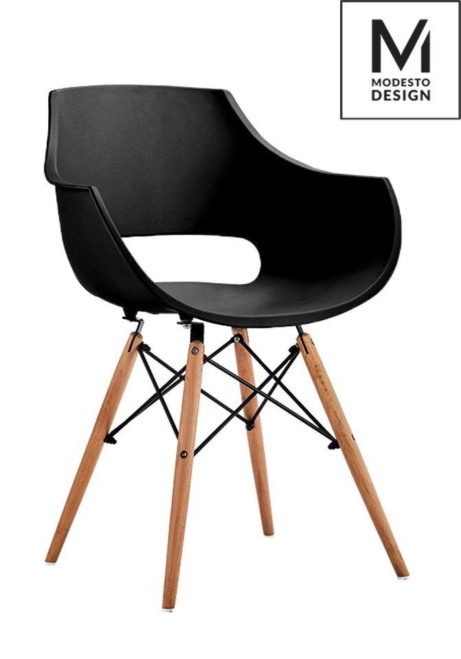 Fotel FORO czarny/buk