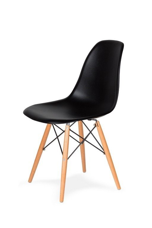 Krzesło DSW WOOD czarne/buk