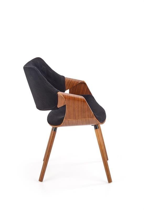Krzesło K396 VELVET orzechowo-czarne