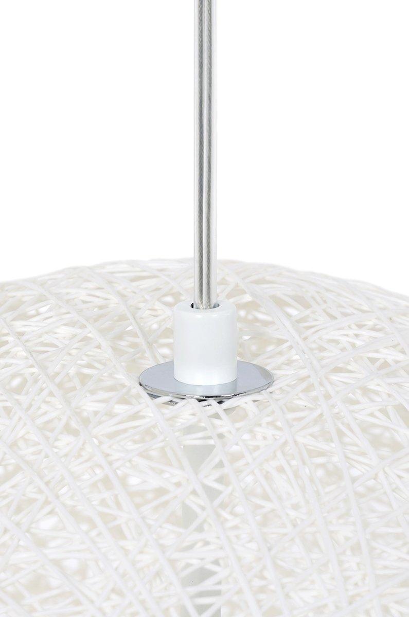Lampa wisząca LUNA 80 biała