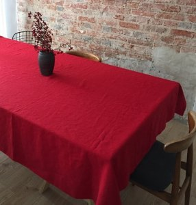 Obrus SIMPLE 145x200 czerwony