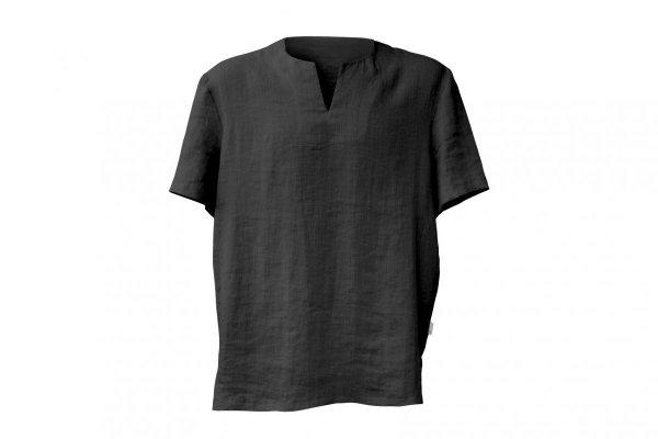 męski t-shirt z lnu