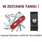 Victorinox Scyzoryk Fisherman 1.4733.72 + Etui 4.0520.3